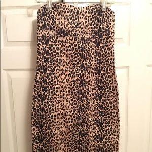 Dresses & Skirts - Boutique Leopard Dress sz L